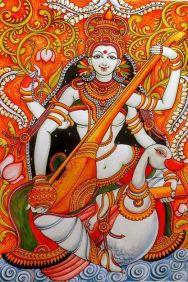Sarasvathi with Kamandalu