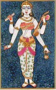 Sarasvathi with Kamandalu 4
