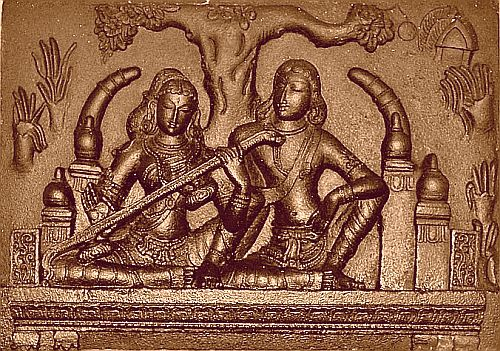 Madhavi with Kovalan
