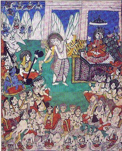 Shiva performing celestial dance