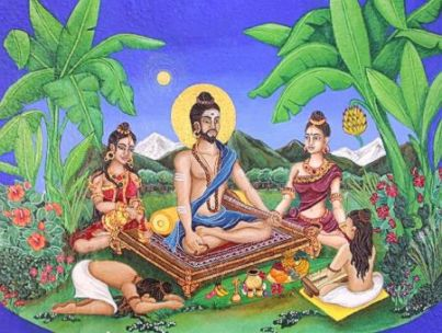 Illustration of Abhinava Gupta by Elke Avis