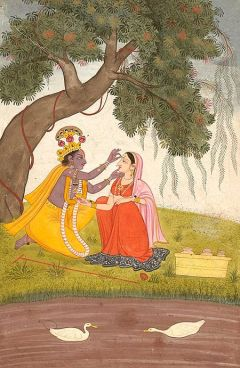 Krishna Adorns Radha with a Tilak