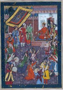 Dancers at Akbar's court. (c.1565)