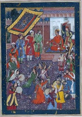 Dancers at Akbar's court. (c.1565)