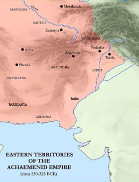 Achaemenid Empire Eastern territories